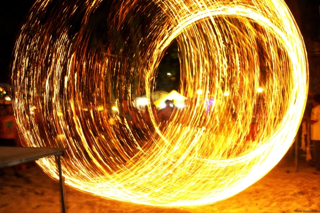 The burning skipping rope