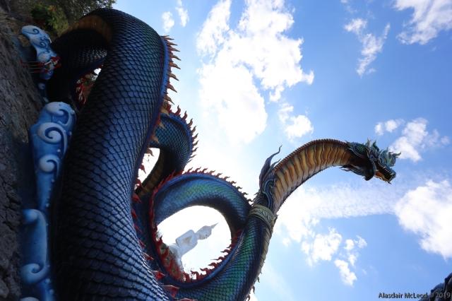 Towering naga serpent